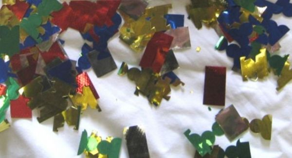 Confetti Sparkling Foil pieces 100gm Mu Table Sprinkles Shower